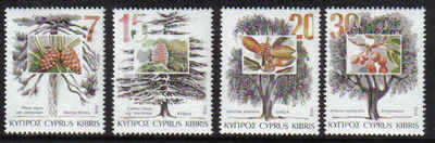 Cyprus Stamps SG 855-58 1994 Trees - MINT
