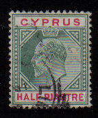 Cyprus Stamps SG 062 1904 Half Piastre - Used (a954)