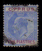 Cyprus Stamps SG 065 1904 Two Piastres - Used (a959)