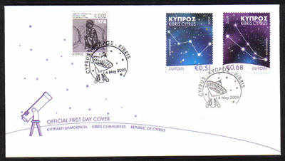 Cyprus Stamps SG 1188-89 2009 Europa Astronomy - Unofficial FDC (a964)