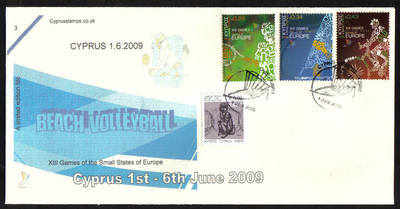 Cyprus Stamps SG 1190-92 2009 XIII Games of the Small States of Europe Beac