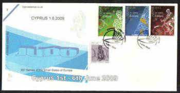 Cyprus Stamps SG 1190-92 2009 XIII Games of the Small States of Europe Judo - Cachet Unofficial FDC (a971)