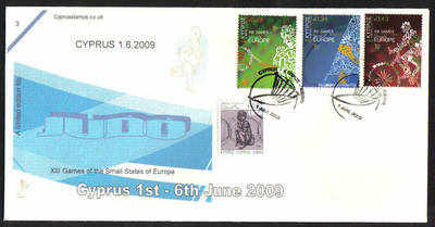 Cyprus Stamps SG 1190-92 2009 XIII Games of the Small States of Europe Judo