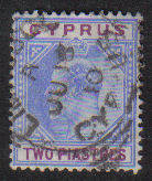 Cyprus Stamps SG 065 1904 Two Piastres - Used (b267)