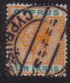 Cyprus Stamps SG 074b 1912 Ten Paras - Used (b271)