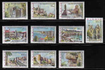 North Cyprus Stamps SG 010-19 1975 Architecture - MLH