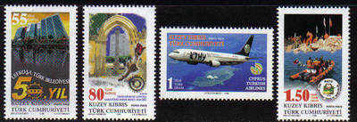 North Cyprus Stamps SG 0678-81 2008 Anniversaries and Events - MINT