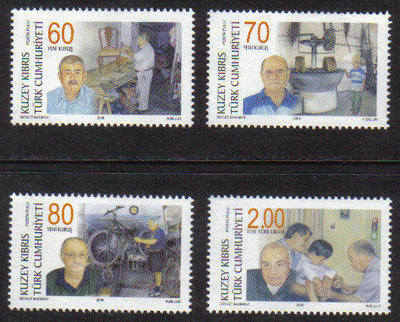 North Cyprus Stamps SG 683-86 2008 The Masters and the Craftsmen - MINT