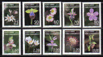 North Cyprus Stamps SG 0664-73 2008 Definitives Orchids and Wild Flowers - MINT