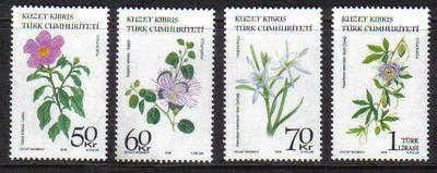 North Cyprus Stamps SG 2009 Medical Plants - MINT