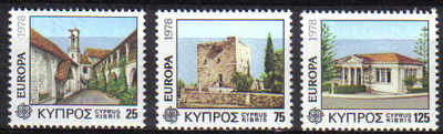 Cyprus Stamps SG 502-04 1978 Europa Architecture - MINT