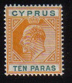 Cyprus Stamps SG 061 1906 10 Paras - MH