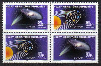 North Cyprus Stamps SG 689-90 2009 Europa Astronomy - MINT