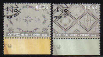 Cyprus Stamps SG 1241-42 2011 Cyprus Embroidery Lefkara Lace - USED (d912)
