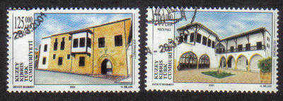 North Cyprus Stamps SG 0524-25 2001 Restoration of Historical buildings - U