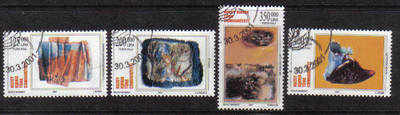 North Cyprus Stamps SG 0526-29 2001 Modern Art - Used (b109)