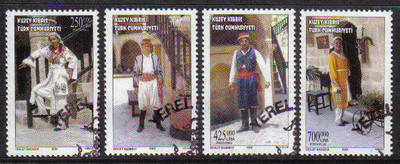 North Cyprus Stamps SG 0555-58 2002 Traditional Costumes - Used (b107)