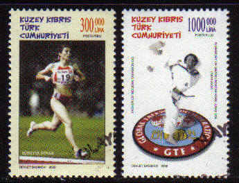 North Cyprus Stamps SG 0561-62 2002 Sporting Celebrities - Used ( b100)
