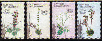 North Cyprus Stamps SG 0590-93 2004 Plants - Used (b097)