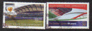 North Cyprus Stamps SG 0594-95 2004 50th Anniversary of UEFA Football - Used (b104)