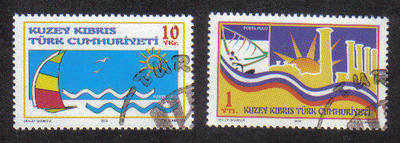 North Cyprus Stamps SG 0603-04 2005 Tourism - Used (b086)