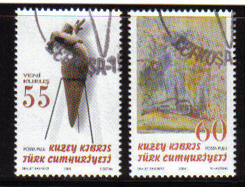 North Cyprus Stamps SG 0629-30 2006 Art 15th Series - Used (b091)