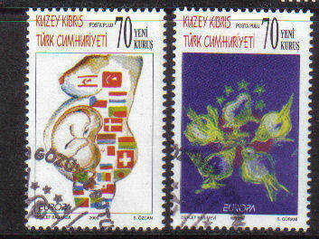 North Cyprus Stamps SG 0631-32 2006 Europa Integration - Used (b089)