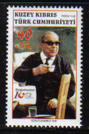 North Cyprus Stamps SG 0634 2006 100th Birth Centenary of Dr Fazil Kucuk -