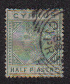 Cyprus Stamps SG 016a 1882 Half Piastre - Used (b113)
