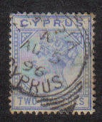 Cyprus Stamps SG 034 1892 Two 2 Piastres - USED (b111)