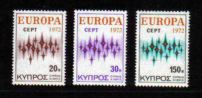 Cyprus Stamps SG 387-89 1972 Europa Communications - MINT