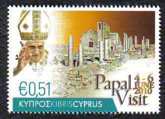 Cyprus Stamps SG 1221 2010 Pope Benedict XVI Visit to Cyprus - MINT