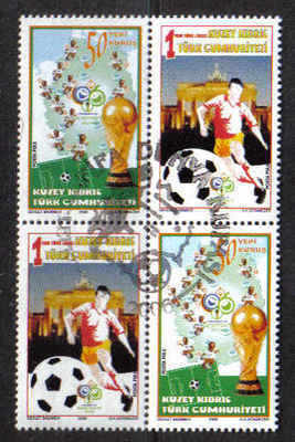 North Cyprus Stamps SG 0636-37 2006 World Cup Germany - USED (b169)