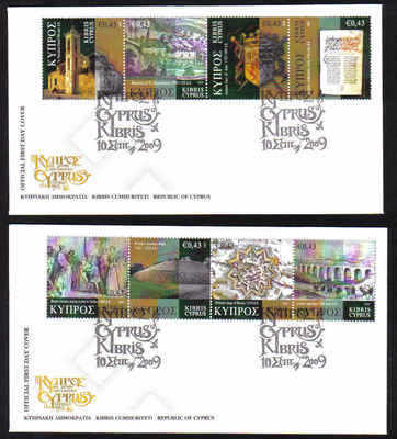 Cyprus Stamps SG 1198-1205 2009 Cyprus Through The Ages Part 3 - Official F