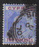 Cyprus Stamps SG 065 1904 Two Piastres - Used (b266)