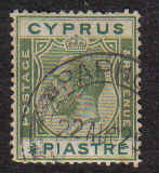 Cyprus Stamps SG 105 1924 3/4 Piastre - Used (b312)