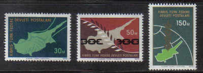 North Cyprus Stamps SG 020-22 1975 Peace in Cyprus - MINT