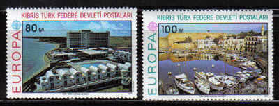 North Cyprus Stamps SG 049-50 1977 Europa - MINT