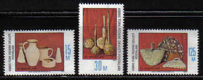 North Cyprus Stamps SG 051-53 1977 Handicrafts - MINT