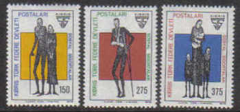 North Cyprus Stamps SG 060-62 1978 Social Security - MINT