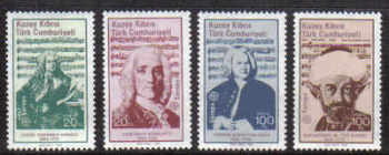North Cyprus Stamps SG 172-75 1985 Europa Composers - Mint (b217)