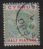 Cyprus Stamps SG 040 1896 Half Piastre - Used (b241)