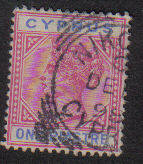 Cyprus Stamps SG 042 1896 One Piastre - USED (L569)