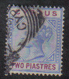 Cyprus Stamps SG 043 1896 Two Piastres - USED (b246)