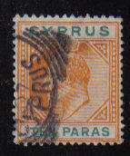 Cyprus Stamps SG 061 1906 Ten Paras - Used (b255)