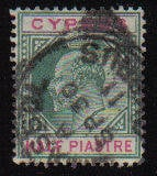 Cyprus Stamps SG 062 1904 Half Piastre - Used (b257)