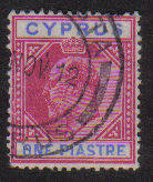 Cyprus Stamps SG 064 1904 One Piastre - Used (b264)