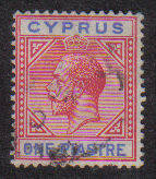 Cyprus Stamps SG 077 1912 One Piastre - Used (b280)