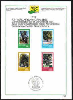 North Cyprus Stamps Leaflet 120 - 1993 Monumental Trees