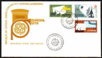 Cyprus Stamps SG 520-22 1979 Europa Communications - OFFICIAL FDC (b342)